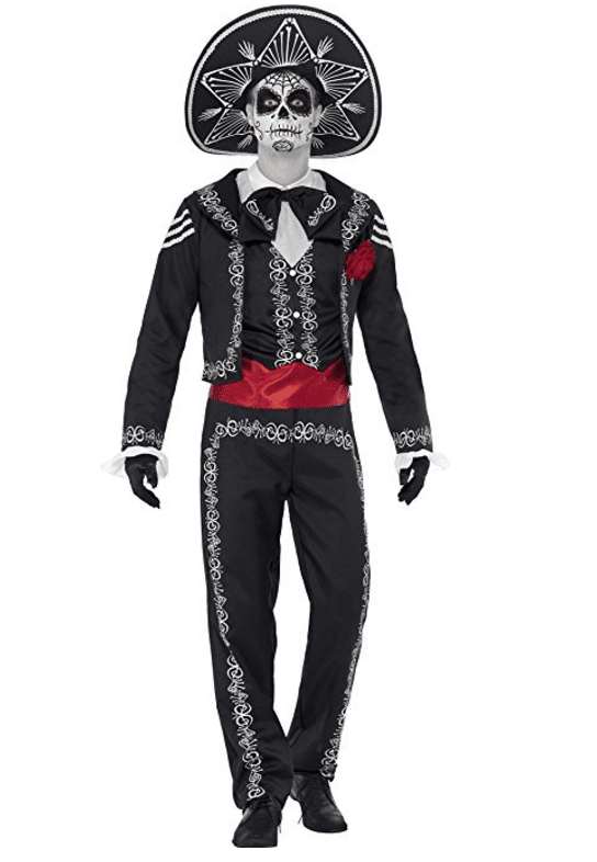 3 amigos halloween costume smiffys mens day of the dead senor bones