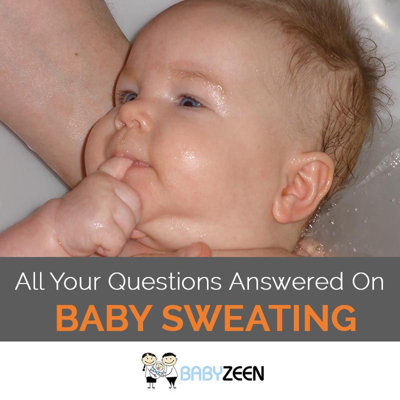 Why Do Babies Sweat? 1. Immature Nervous System. The nervous system controls body temperature, and like other parts of the baby's body, it may not have fully matured yet for newborns. Thus, newborn babies are not able to regulate their body temperature like adults. Besides this, some babies naturally sweat more than others, just like adults. 2.